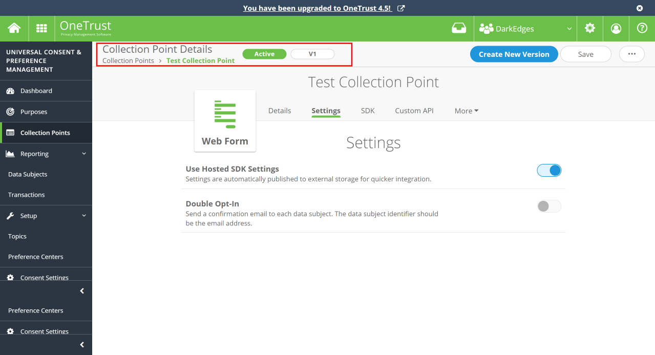 Test Collection Point published